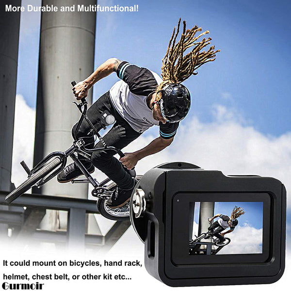AnjieloSmart Gopro Hero 8 Protective Frame Case with 52mm UV Filter Shockproof Housing Shell