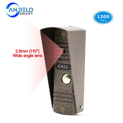 AnjieloSmart Doorbell Intercom Home Security IR Night Vision Outdoor Call Panel Wide Angle Lens