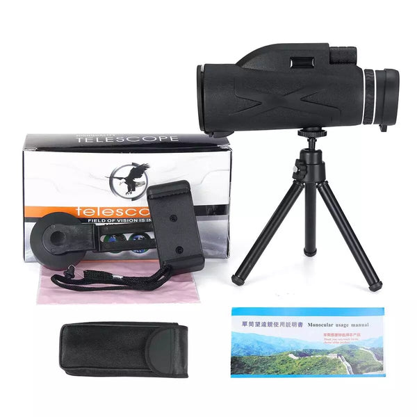 AnjieloSmart 80x100  Magnification Portable Monocular Telescope Binoculars Zoom Great Handheld Telescope Military HD Professional Hunting