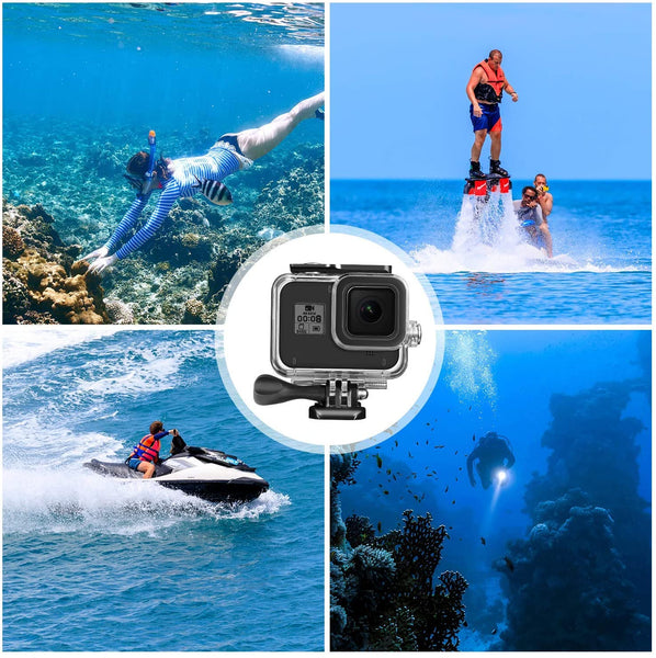 Waterproof Housing Shell for Gopro 8 Series Camera Protective Case 60m Underwater Cover Diving Accessories