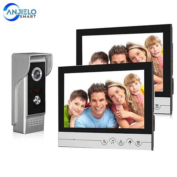 9 Inch Wired Video Door Phone System Visual Intercom Kit Doorbell With Waterproof Outdoor IR Camera For Home Security