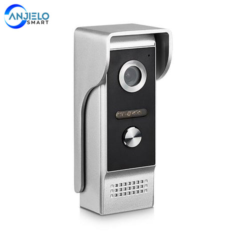 AnjieloSmart 4-Wired Video Door Phone Single Doorbell Waterproof Wide View Angle Lens Night Vision