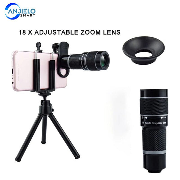 Anjielosmaet 18x Zoom Telephoto Lens Hot Selling Mobile Phone Peripheral Telescope
