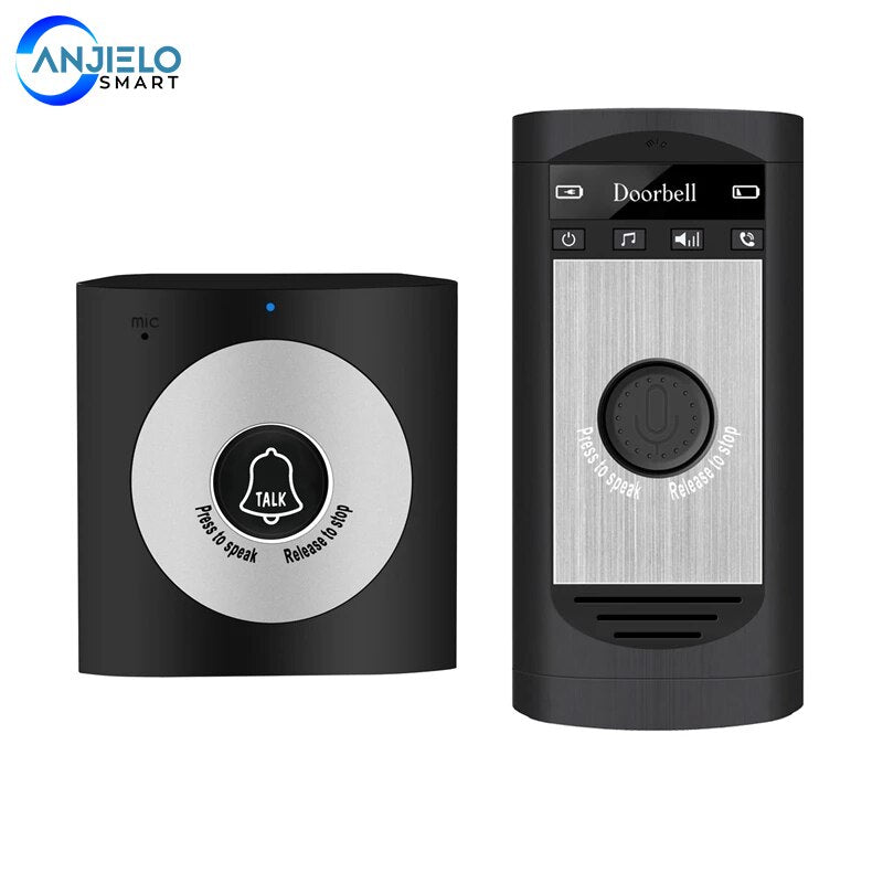 Anjielosmart 2.4G Wireless Intercom Doorbell Home Mobile Wireless Voice Doorbell