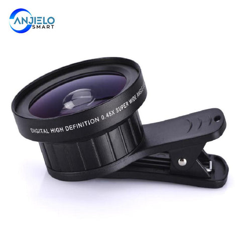 Anjielosmart 2 in 1Phone Lens 0.45X Wide Angle+12.5X Macro Lens HD Phone Camera Lens