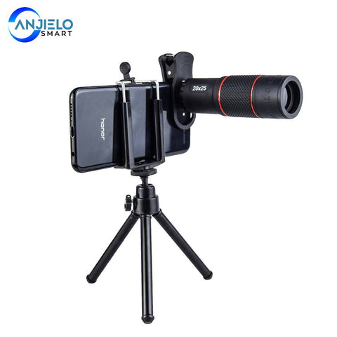 Anjielosmart 20X Telescope Zoom lens Monocular Mobile Phone camera Lens for iPhone Samsung Smartphones