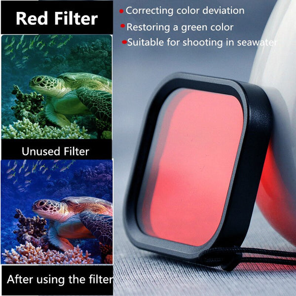 Anjielosmart 45M Underwater Diving Waterproof Housing Case + Dive Color Lens Filter Kit for GoPro Hero 8 Black Camera
