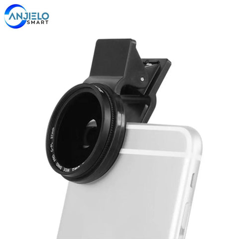 Anjielosmart Adjustable 37mm Neutral Density Clip-on ND2 - ND400 Phone Camera Filter Lens  polarizer for iPhone