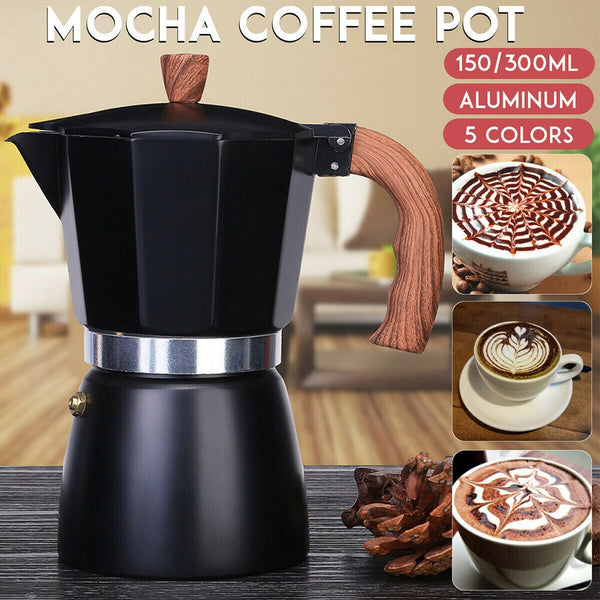 Anjielosmart Coffee Maker Octagonal Classic Household Aluminum Mocha Espresso Percolators Pot Tea Pot Portable Stovetop Kettle