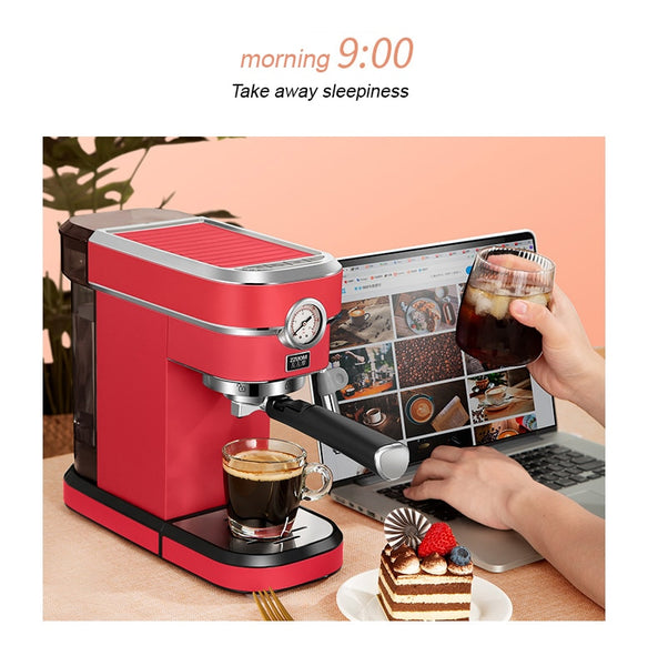 Anjielosmart Coffee maker 15 Bar Espresso Automatic Coffee Machine with Milk Frothier for Cappuccino Mocha Latte or Americano