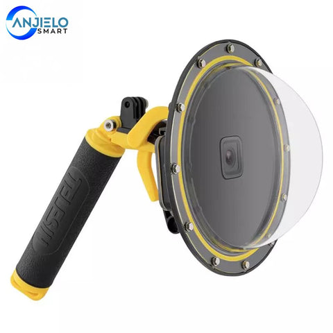 Anjielosmart Waterproof Housing Lens Cover for GoPro Hero 9 Wide Angle 180 degree
