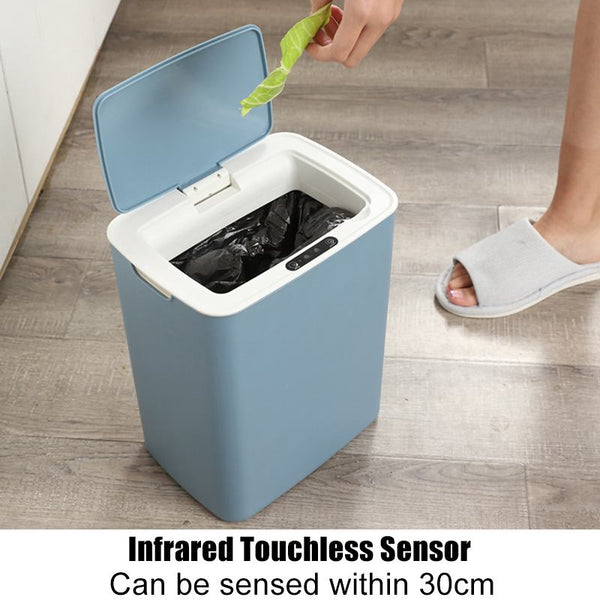 Anjielosmart Intelligent induction Touchless Automatic Rubbish Trash Can Rechargeable Smart Kitchen Waste Garbage Bin 12L
