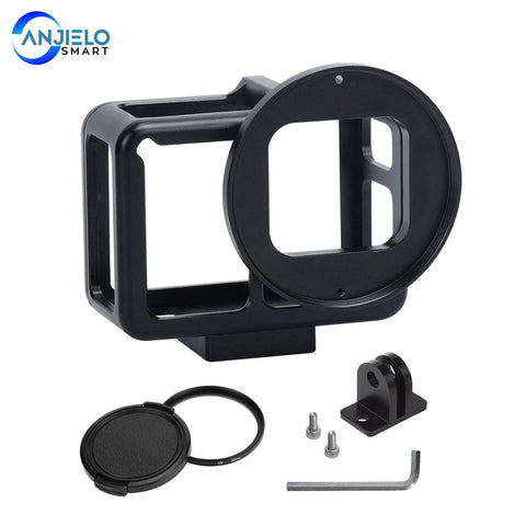 Anjielosmart Metal Frame Protective Cage for GoPro HERO 5 6 7 Action Camera Aluminum Alloy Housing Shell