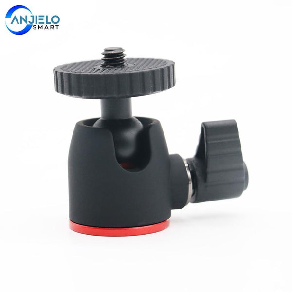 Anjielosmart Mini Ball Head Tripod Head for 360 Swivel DSLR DV Camera Mini Tripod Ball head Aluminium Alloy(Gift)