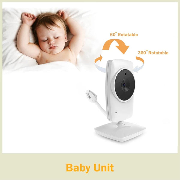 Anjielosmart New 3.2 Inch Wireless Baby Monitor Security Camera Two-way Intercom Electronic Babysitter for Baby or Elderly