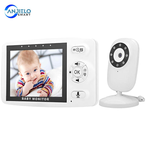Anjielosmart New 3.5 Inch Wireless Digital Baby Monitor Camera Nanny Security Night Vision Temperature Monitor