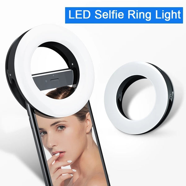 Anjielosmart Photography Dimmable Portable LED Selfie Ring Light Flash For Mobile Phone Laptop Fill Light For Youtube Tiktok