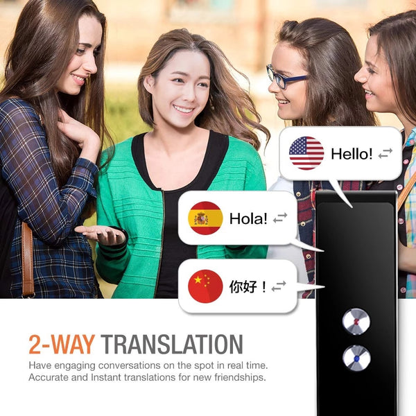 Anjielosmart Portable Translator T8 Smart Voice Speech Two-Way Real Time