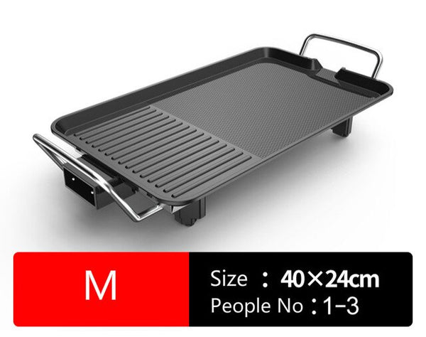 Anjielosmart Smokeless Barbecue Grill Electric Multifunctional Household Hot Plate Non Stick Adjustable Temperature BBQ Pan