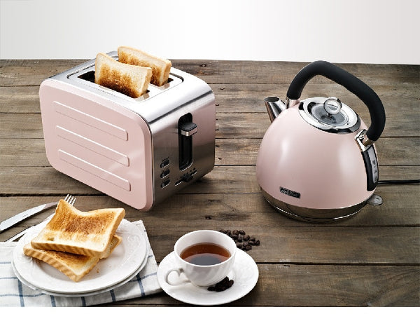 Anjielosmart-Stainless steel Electric Toaster Household Automatic Bread Baking Maker Breakfast Machine comes with charging plug