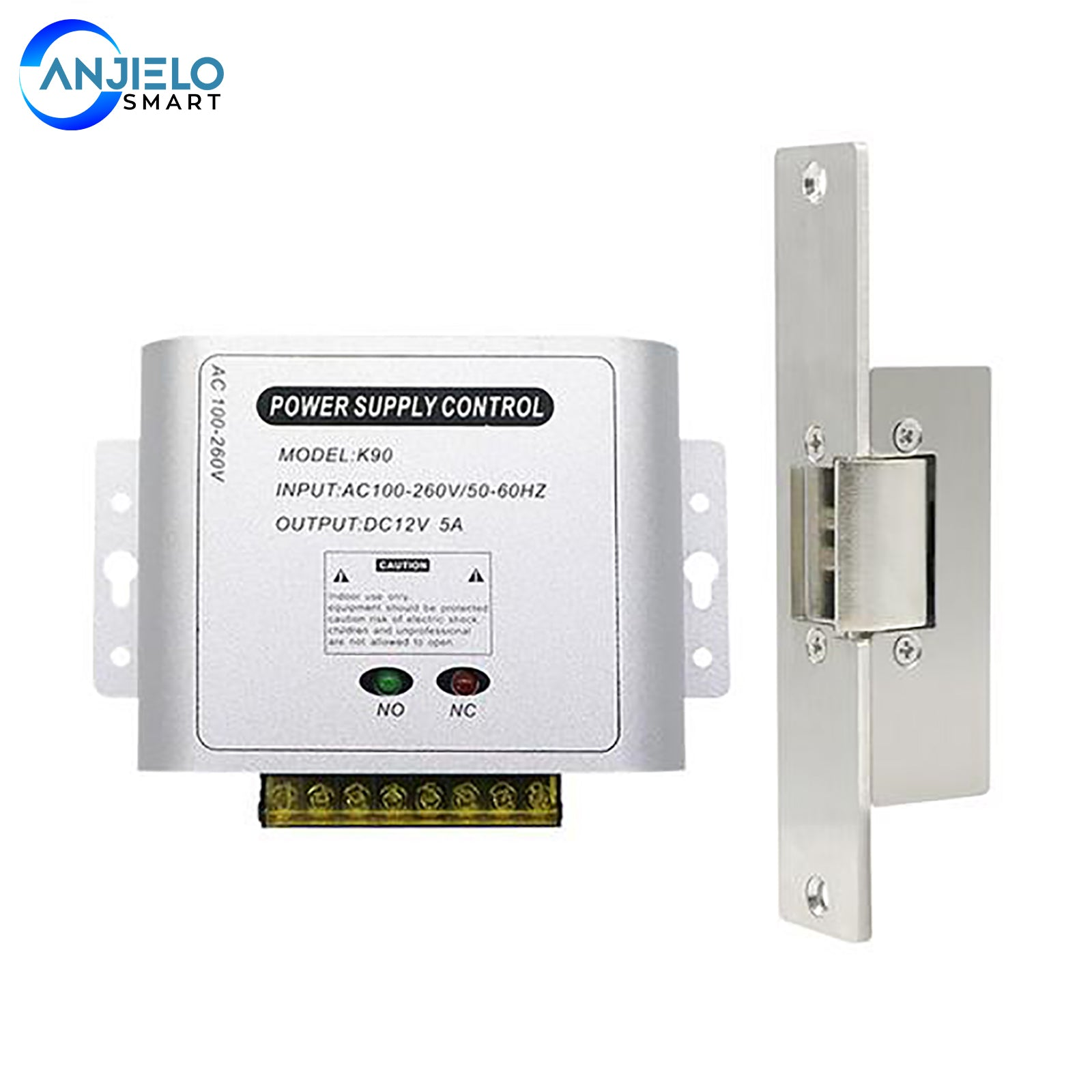 AanjieloSmart Door Access System for Home Gate Electric Power Supply Control Miniature Power/Electric Lock Power/Access Control System
