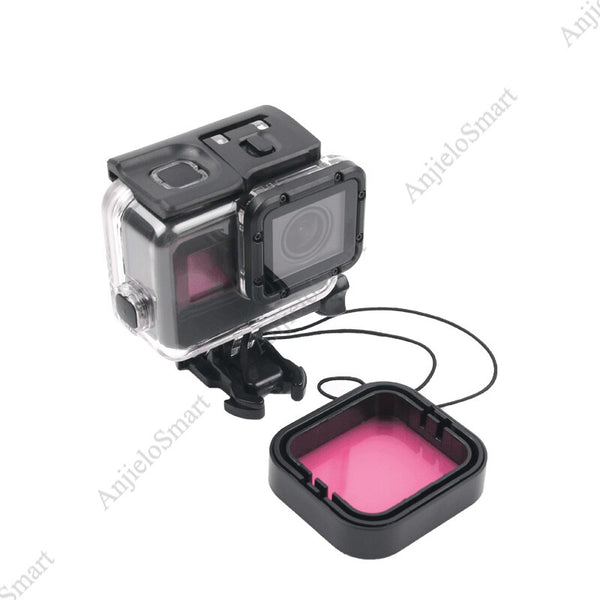 Anjielosmart Waterproof Underwater Diving Housing Case Cover with Lens Filter Kit for Go Pro Hero 7 6 5 Black Go Pro Accesories
