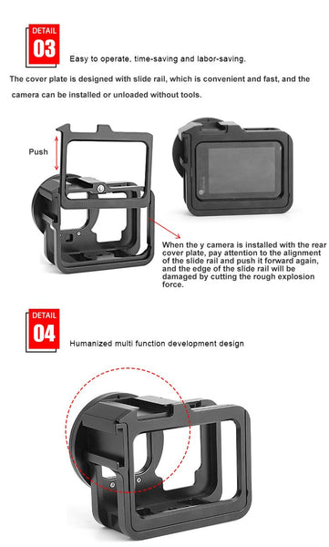 Anjielosmart Aluminum Case for GoPro Hero 9 Black Metal Cage Protective Case Frame
