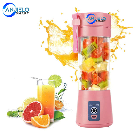 AnjieloSmart 380ml Portable Juicer Electric Mixer Mini Juice Cup USB Rechargeable Smoothie Blender Machine