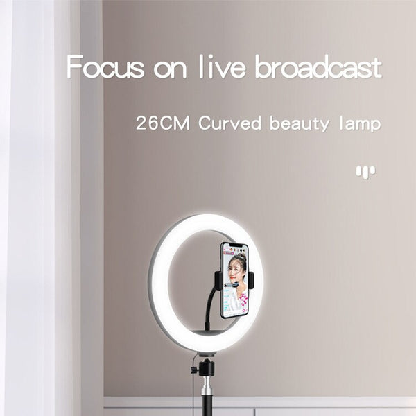 Anjielosmart  Dimmable LED Ring Light Selfie Ring Light with Tripod Stand Phone Holder