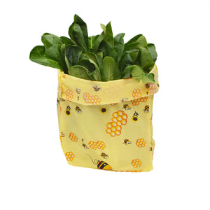 Beeswax Reusable Food Wrap Bag Food Storage Bag Alternative to Cling Film Wrap