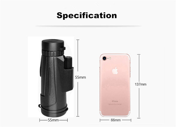 Anjielosmart Mini wifi IR Infrared Night Vision Device Night-Vision Binoculars Infrared + Phone Holder for Hunting Camping