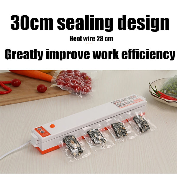 Household Food Vacuum Sealer Packaging Machine Automatic Plastic Sealing Machine Portable Kitchen Preservation Storage Bags
