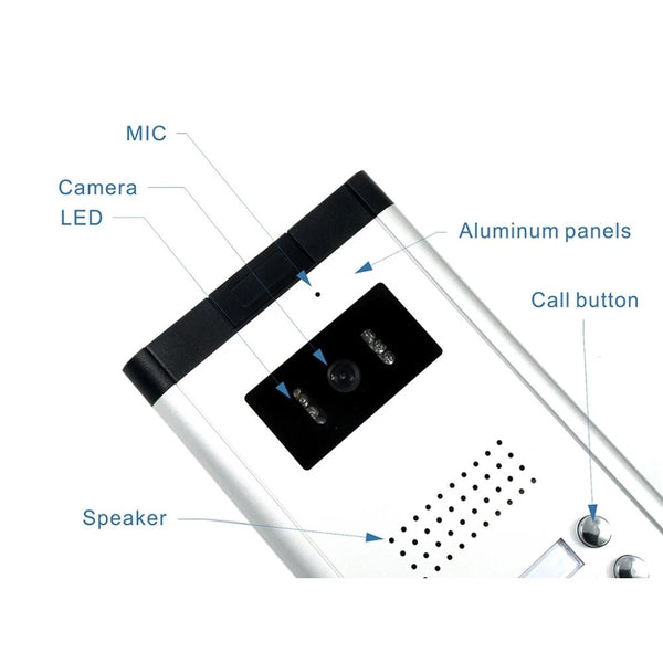 AnjieloSmart New 2/3/4 Unit Video Intercom System Doorbell with 7 Inch Monitor Doorphone for for 2-4 Household Apartment
