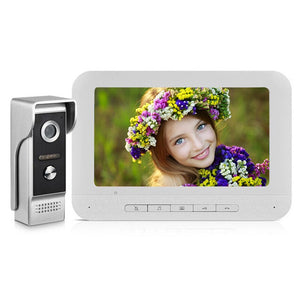 AnjieloSmart New Wired Video Doorbell with 7 Inch Camera Doorphone for Villa Home Security(V70M-M4)