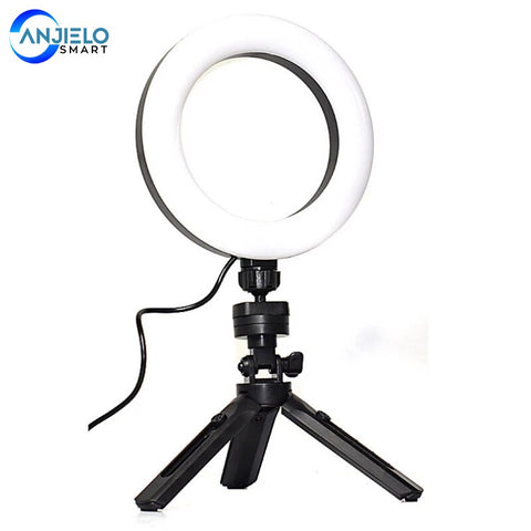 Tripod Stand Ring Fill Light Dimmable Mobile Phone Selfie Light Adjustable Tripod For Make-up Live Streaming Online Teaching