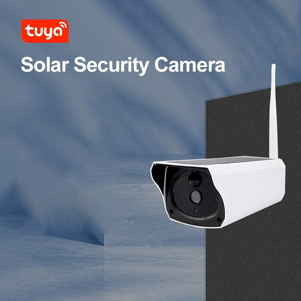 Tuya Smart 1080P Wifi Security Solar Camera with 18600mAh Solar Battery Powered 35fts Night Vision, Motion Activated Waterproof