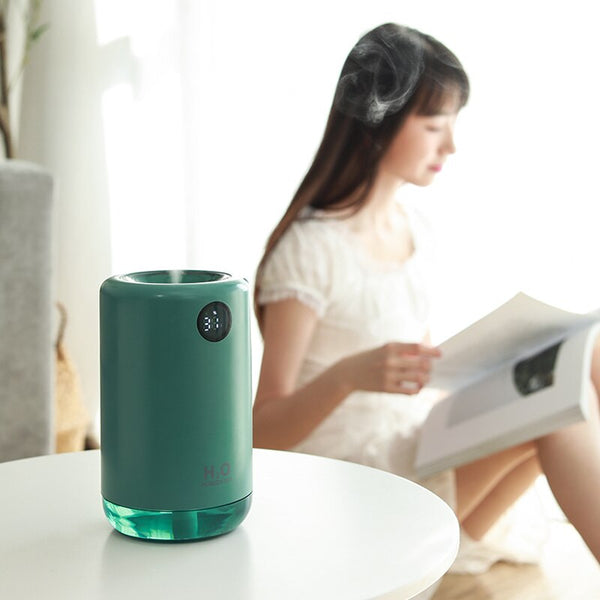 Ultrasonic Air Humidifier 500ML 2000mAh Portable Aroma Water Mist Diffuser Battery Life Show Aromatherapy Humidificador