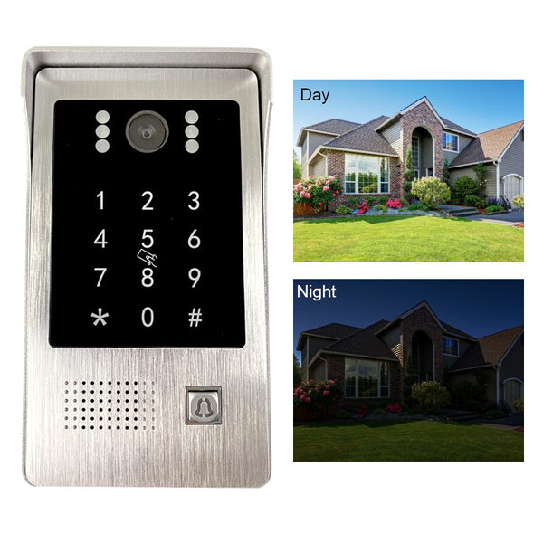 Video Door Phone IP Door Bell 1.0 MP with POE High Resolution Outside Doorbell Call Panel IP65 Waterproof Support Password+Swipe