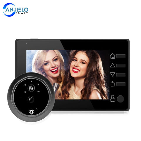 Video Peephole Doorbell Viewer 4.3 Inch Door Camera LCD Digital Electronic Door Viewer Night Vision Support Motion Detection