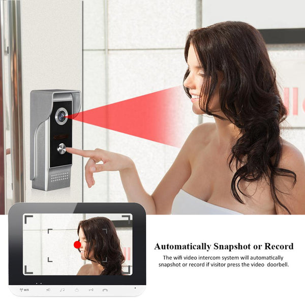 Wifi Video Doorphone Intercom System IOS/Android Smart Mobile Phone app Remote Control/Access Control Power Supply/Electric Lock