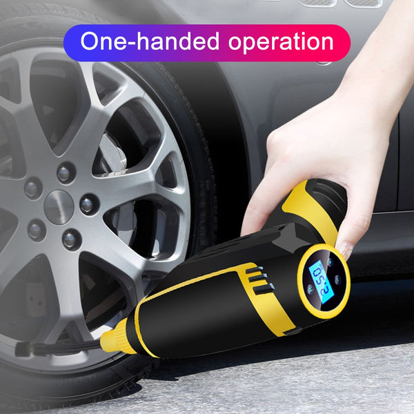 AnjieloSmart Handheld Charging Compressor For Car 120W Wireless Air Pump Rechargeable Tire Inflator Compressor Pump for Motorcycles Car Truck