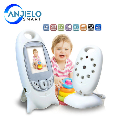 AnjieloSmart 2 inch Baby Monitor 2 Way-Talk Temperature Monitoring Babysitter Intercom