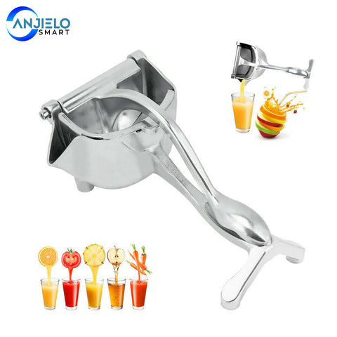 AnjieloSmart Manual Juicer Handheld Lemon Citrus Squeezer Stainless metal Juice Maker Machine Detachable Kitchen Orange Juicers