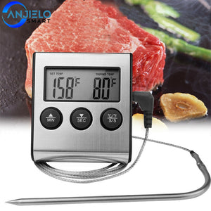 AnjieloSmart LCD Digital Food ProbeThermometer Meat BBQ Kitchen Temperature Meter