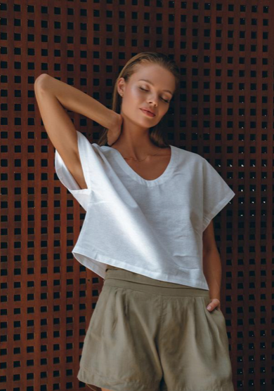 Tailored Linen Shorts and Edith Shorts