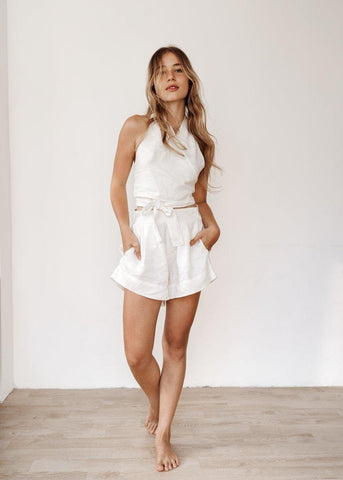 Milan Top and Florence Shorts in Off-White