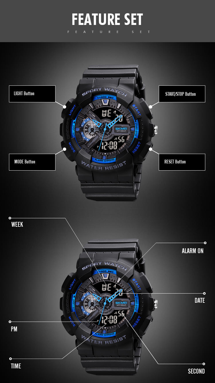 SKMEI 1688  Male Wristwatch