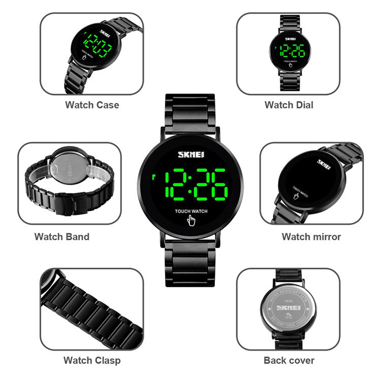 SKMEI 1550 LED Led Watch Touch Screen Waterproof IP67 for Men