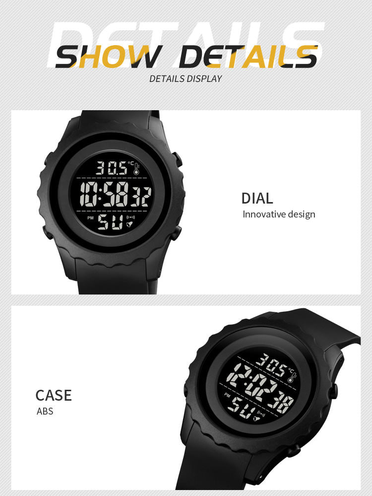SKMEI 1745 Outdoor Sports Watch IP68 w/ Thermometer