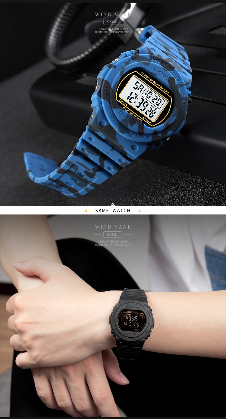 SKMEI 1776 Dual Time Watches Sports IP68 for Men